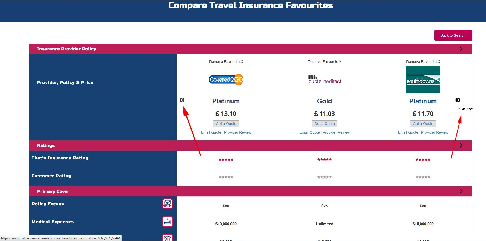 Compare your Favourite Insurance Policies