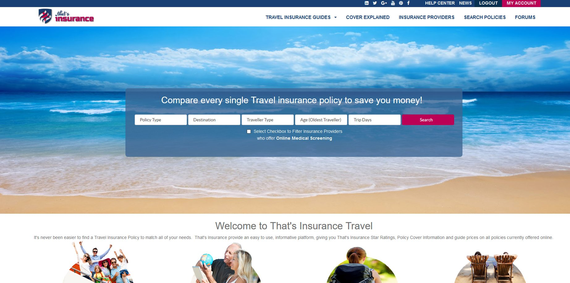 Thats Insurance - Search for a Travel Insurance Policy