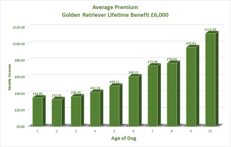 Golden Retriever Average Premium vs Age